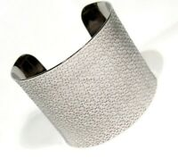Wide Cuff Bracelet Hypoallergenic Surgical Steel with Design