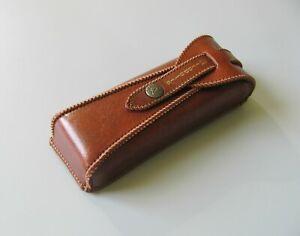 Men's Glasses Case, Brown PU Leather Case for Glasses
