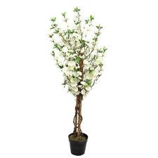 Foglie artificiali realistici Albero in vaso Blossom Crema 120 cm da giardino veranda
