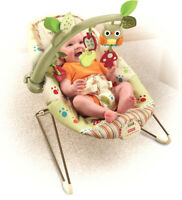 Baby Bouncer Seat Vibrating Chair Comfort Woodsie Fisher Price