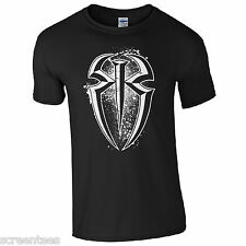 RR T-Shirt - Wrestler Roman Reigns Fan Inspired Unisex Kids Mens Gift Top