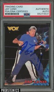 1998 TOPPS WCW WRESTLING CARD JAY LENO AUTOGRAPH PSA DNA SIGNED CERTIFIED
