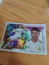 Sticker Cristiano Ronaldo Real Madrid Liga Este 2015-2016  Nuevo Cromo Brillante