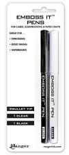 Ranger EMBOSS IT PENS - Pack of two (clear and black)