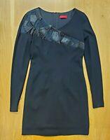 Hugo Boss Long Sleeve Black Bodycon Dress UK 10 EU 38 US 6 M