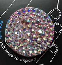 New Popsockets AB Clear Swarovski Crystals Bling Iphone Popsocket Grip Samsung