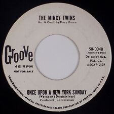 MINCY TWINS: School Girl / Once Upon A New York Sunday '64 GROOVE Pop 45 Promo