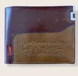 Vintage Levis Wallet Mens Leather Brown