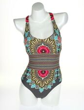 Red Carter 129831  Floral Print Racerback One-Piece Swimsuit Sz S
