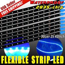 10PCS 90CM Waterproof Flexible Strip Bar Car Motor LED Lights Ultra Blue 2835 US