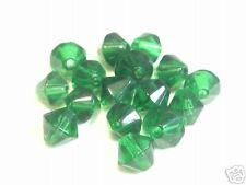 15 x 8 mm Verre Bicone Perles: bnpg62 dark emerald