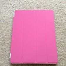 Apple iPad 2/ 3/4The New iPad Smart Cover Front Case Pink (screen protector x1)