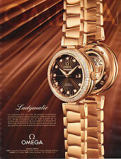 PUBLICITE ADVERTISING  2012   OMEGA  montre LADYMATIC