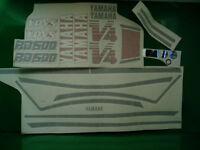 honda XL 500 R 1982 moto argento adesivi stickers