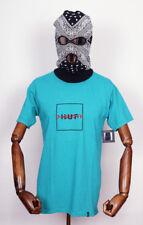 HUF worldwide Footwear skate shoes t-shirt té katakana box logotipo tropical en m