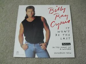 Original 1993 12x12 Album Double Sided Promo Poster Billy Ray Cyrus