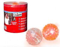 Gioco pallina luminosa per gatti diametro 5 cm in gomma resistente - in 2 colori