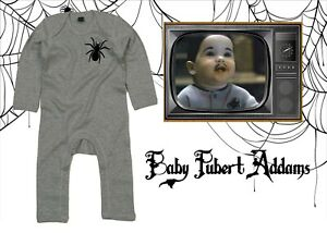 Addams Family Baby Pubert Spider Rompersuit/Baby Grow Halloween Novelty Spooky