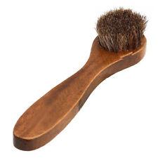 Polierbürste für Schuhe - Rosshaarbürste Holz Schuhbürste Schuh Bürste