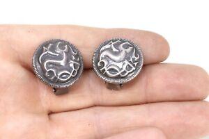 A Pair Of Vintage Sterling Silver 925 David Andersen Norway Clip On Earrings