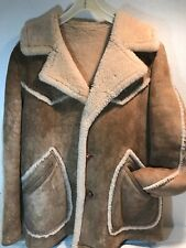 Vintage MEN'S Shearling Scully Leather Wear MARLBORO MAN COAT Size 40
