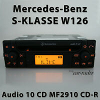 Original Mercedes Audio 10 CD MF2910 CD-R W126 Radio S-Klasse V126 Autoradio RDS