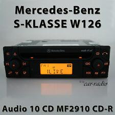 Original Mercedes Audio 10 CD MF2910 CD-R W126 Radio S-Klasse V126 Autoradio RDS