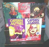 CAPTAIN MARVEL Deconnick LOT Marvel Comics #4 #7 #9 #12 #15 FN NM Danvers 2014