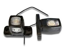 2 x 12V 24V LED TRIPLE SIDE MARKER OUTLINE LIGHTS FOR TRUCK SCANIA DAF IVECO MAN