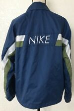 Nike Vintage Retro Windbreaker Jacket Spellout Swoosh Logo Womens Size Medium G9