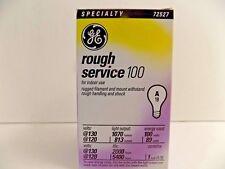 GE ROUGH SERVICE 100 WATT LIGHT BULB 130 Volt A19 72527 RUGGED FILAMENT E26 BASE