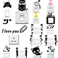 Cute Light Switch Wall Art Vinyl Stickers Decal Mural DIY Living Room Home Decor