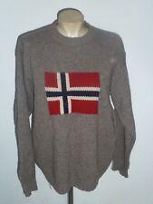 Warmer PULLOVER - braun - Norwegen Flagge - * NAPAPIJRI * - Gr. M