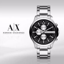 new + box men's ARMANI EXCHANGE AX2152 Stainless Steel Band A/X WATCH Black Face