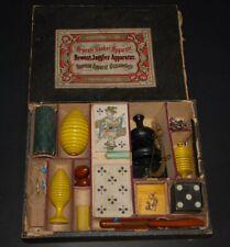 """uralter Biedermeier Zauberkasten * """"Neuste Bauber-Apparate"""" * um 1850/1860"""