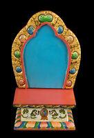 Templo Tibetano Altar Caja Para Estatua Buda Tibet 32X21CM 5415 - Eta Mil 7