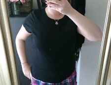 Dorothy Perkins plain black short sleeve t-shirt. crew neck size 18