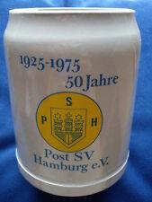 0,5 L Krug Brauerei  Bierkrug 50 Jahre Post SV Hamburg
