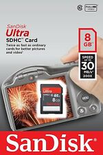 SanDisk Ultra 8GB SDHC SD Class 10 30MB/s 200x Flash Memory Camera Card 8 G GB