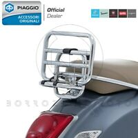 PORTAPACCHI POSTERIORE CROMATO ORIGINALE PIAGGIO VESPA GTS 250 2011 2012 2013
