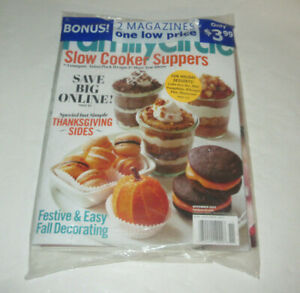 Ladies Home Journal & FamilyCircle Magazines SEALED November 2013 Multipack