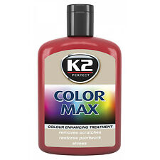 K2 Max Colour Restorer Car Paint Polish Cover Scratches Enhance Shine - Red
