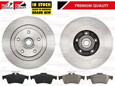 RENAULT LAGUNA MK3 REAR BRAKE DISCS & PADS FITTED WHEEL BEARINGS & ABS RINGS