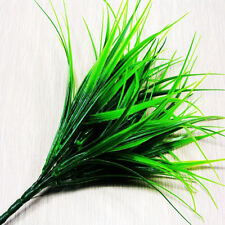 Artificial Plastic Evergreen Grass Centerpiece Lively Plant Vibrant Green 1Pc