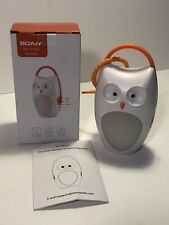 Soaiy Owl Sound Machine A-Sf02 Portable Baby Sleep Soother With Night Light