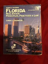 Florida Real Estate Exam Manual by Crawford, Coleman and George Gaines (2002,...