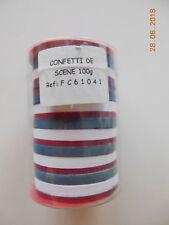 GROS CONFETTIS RONDS  DE SCENE - BLEU / BLANC / ROUGE - BOITE DE 100 Gr