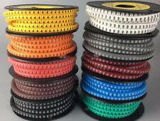 Kabelbeschriftung 100 tlg 0-9 je 10 Stück Zahlen Nummern plastik beschriften