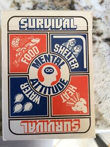 Vintage playing cards - Survival cards - mint - like new c 1974