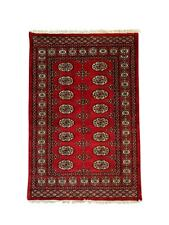 6' x 4'3'' (ft)-Red Hand Knotted | Pakistani Bokhara | Area Rug | StampaRugs